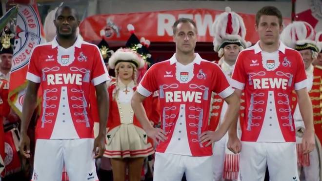 Das Karnevalstrikot des 1. FC Köln