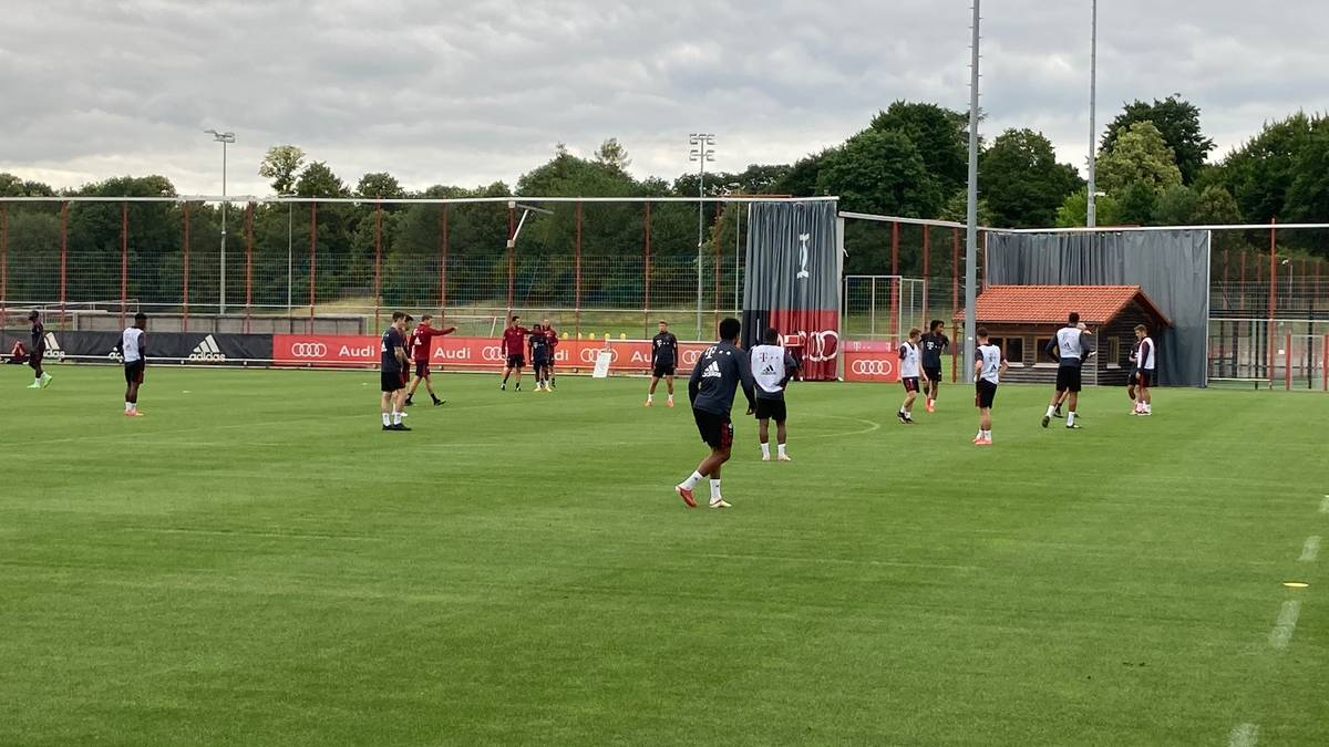 Nagelsmann unterbricht das Trainingsspiel