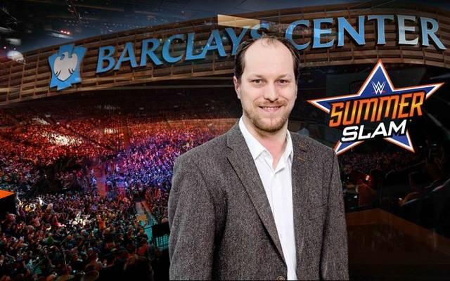 SPORT1-Redakteur Martin Hoffmann ist beim SummerSlam vor Ort