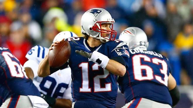 Tom Brady von den New England Patriots im Spiel gegen die Indianapolis Colts
