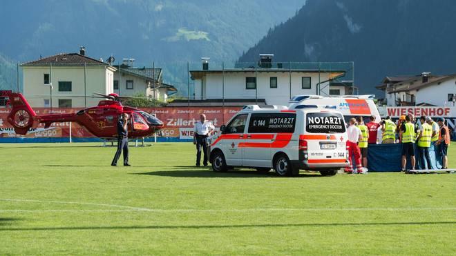 Ein Rettungshubschrauber brachte Nouri ins Krankenhaus