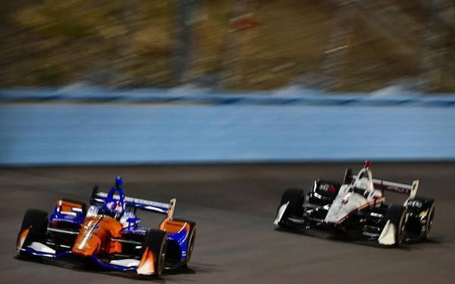 Scott Dixon (Ganassi-Honda) vor Josef Newgarden (Penske-Chevrolet)