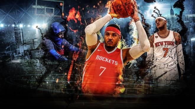 Carmelo Anthony hofft nach Stationen bei den New York Knicks und Oklahoma City Thunder jetzt mit den Houston Rockets wieder auf eine Titel-Chance