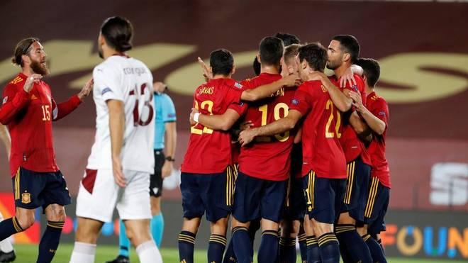 Am 3. Spieltag der Nations League siegt Spanien gegen die Schweiz