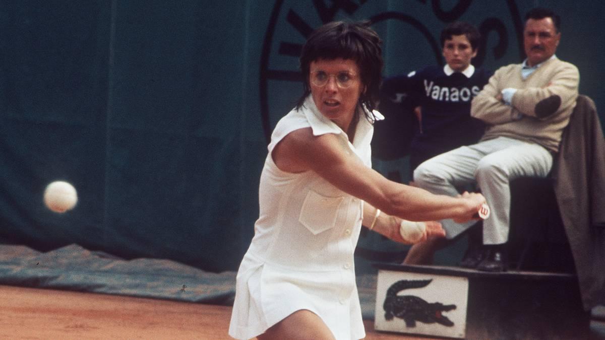 Tennis French Open Billie Jean King Billie Jean King im Finale der French open 1972