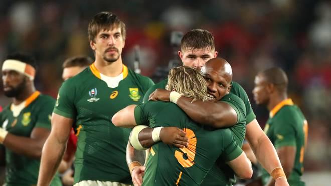 Südafrika bejubelt den Einzug ins Endspiel der Rugby-WM