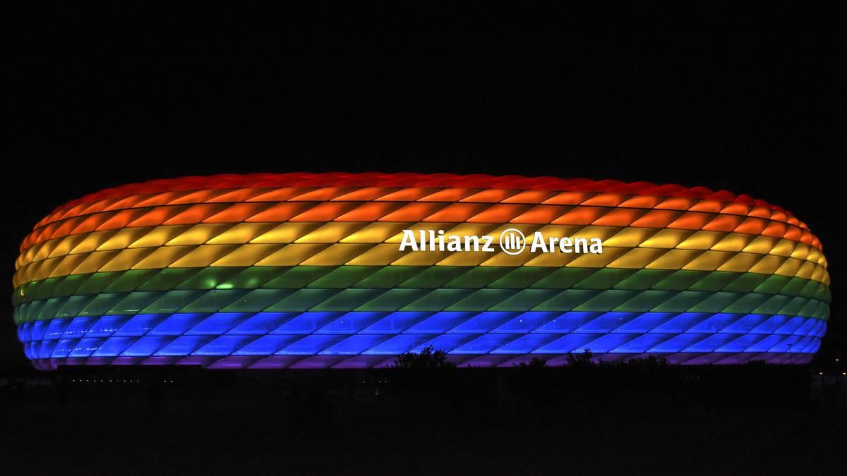 Die Allianz Arena leuchtet am 11. Juli bunt auf