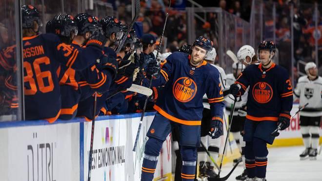 Leon Draisaitl war an beiden Oilers-Toren zum Sieg gegen die Kings beteiligt