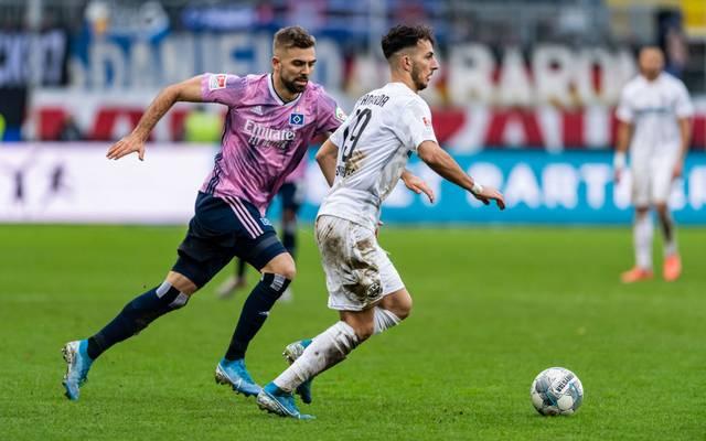 Lukas Hinterseer sichert dem HSV zumindest einen Punkt gegen Sandhausen