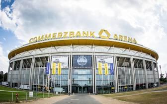 Erstes Turnier in Fußballstadion