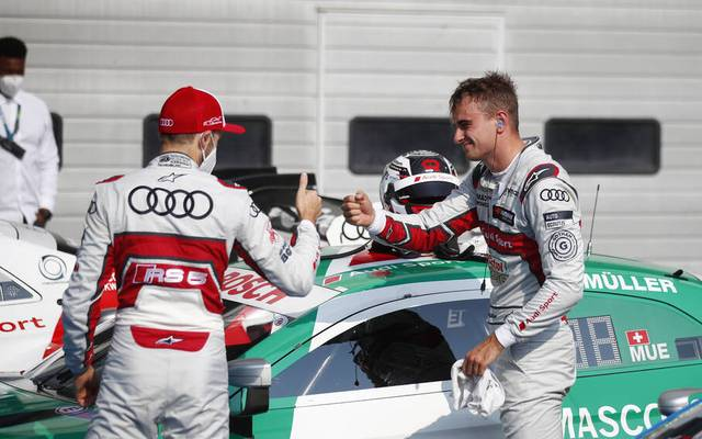 René Rast (l.) und Nico Müller sind die beiden prägenden Figuren der DTM-Saison 2020
