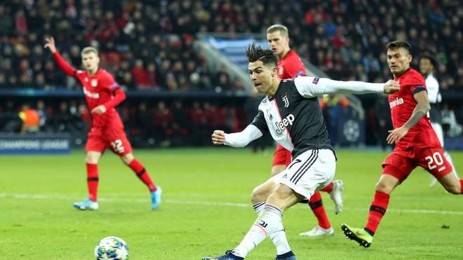 Cristiano Ronaldo erzielte die Führung für Juventus