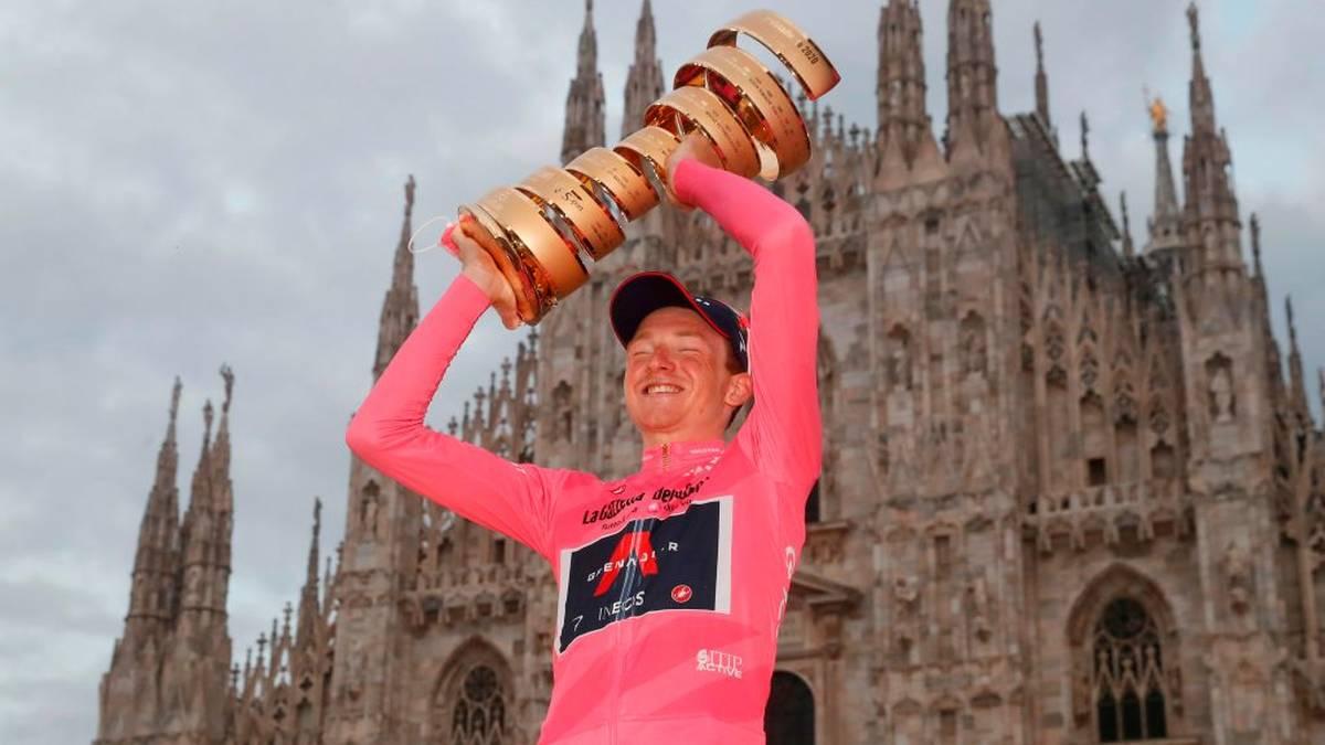 Tao Geoghegan Hart holte beim Giro d'Italia überraschend den Gesamtsieg