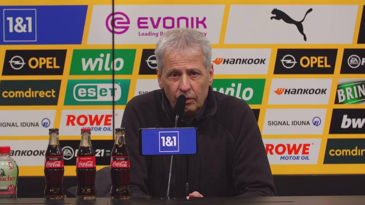 Nach der bitteren 1:5-Blamage gegen den VfB Stuttgart ist Lucien Favre konsterniert. Der BVB-Trainer spricht über die vielen Fehler, die seine Mannschaft gemacht hat.