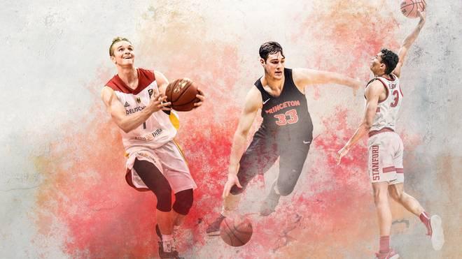Makai Mason, Oscar da Silva, Sebastian Much im College Basketball