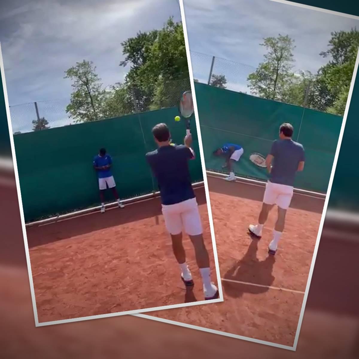 Das tut weh! Federer mit Volltreffer gegen Monfils