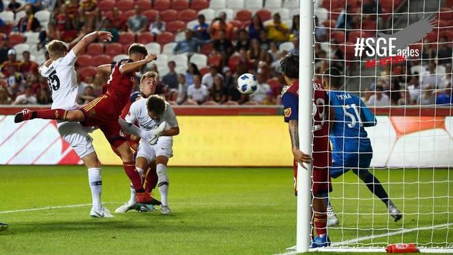 Nicolai Müller erzielt für Frankfurt das einzige Tor gegen Salt Lake City