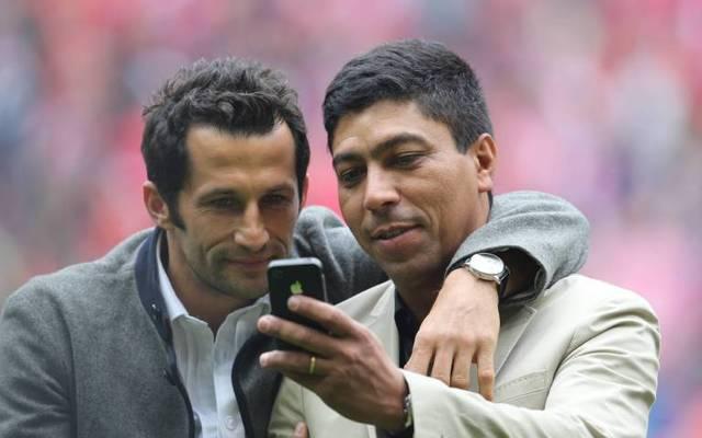 Hasan Salihamidzic (l.) und Giovane Élber feierten nach dem Champions-League-Triumph