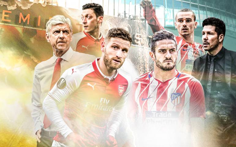 Vor dem Halbfinal-Kracher in der UEFA Europa League zwischen dem FC Arsenal und Atletico Madrid beleuchtet SPORT1 beide Teams im Head-to-Head