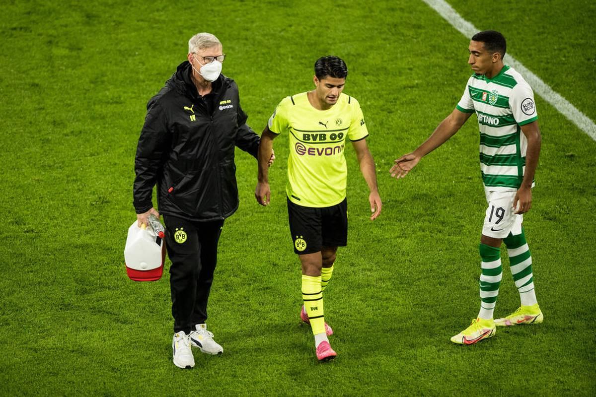 Mahmoud Dahoud erlebt drei Tage nach seinem Platzverweis in Gladbach den nächsten Rückschlag. Gegen Sporting fällt er schon in der Anfangsphase aus.