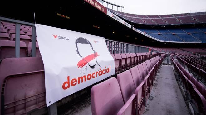 Der FC Barcelona trug das La-Liga-Spiel gegen Las Palmas vor leeren Rängen aus