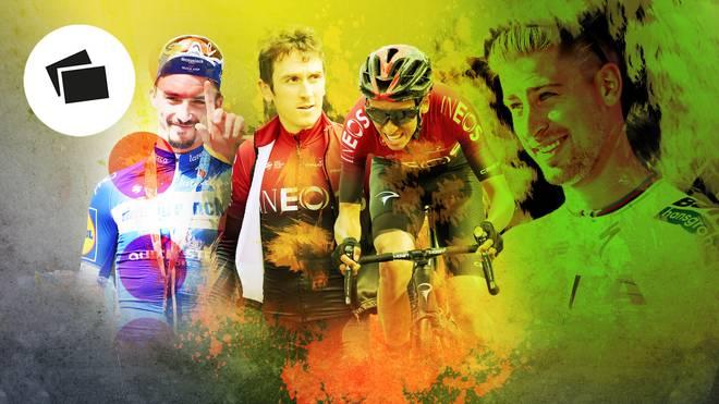 Gelb, grün, gepunktet: Wer schnappt sich die begehrten Trikots bei der Tour de France?