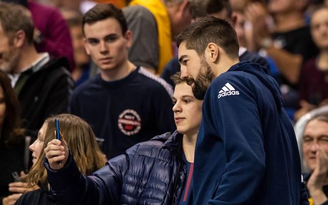 Handball-WM: Nikola Karabatic vor Debüt für Frankreich gegen Russland, Frankreichs Nikola Karabatic war bislang nur als Zuschauer bei der WM dabei