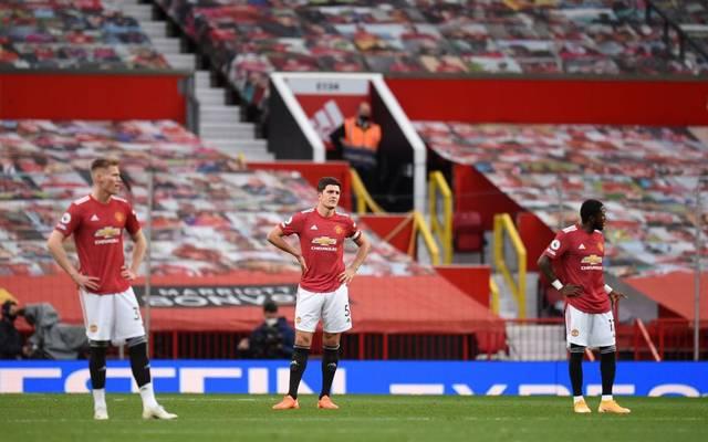 Für die United-Stars um Harry Maguire (M) gab es nach dem Spiel gegen Tottenham Hotspur nichts zu feiern