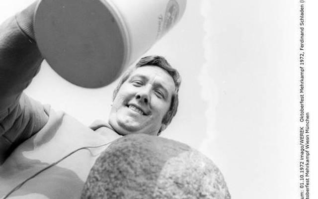 Ferdinand Schladen 1972 auf dem Oktoberfest
