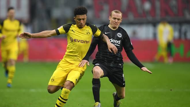 Sebastian Rode (r.) ist derzeit an Eintracht Frankfurt ausgeliehen