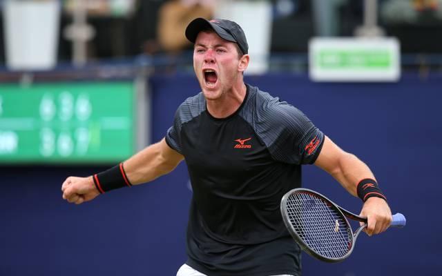 Ilkley Trophy ATP-Challenger, Dominik Koepfer jubelt