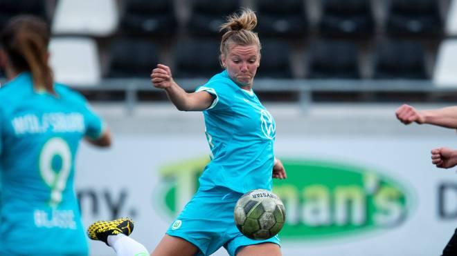 Alexandra Popp steuerte zwei Tore zum Sieg des VfL Wolfsburg bei