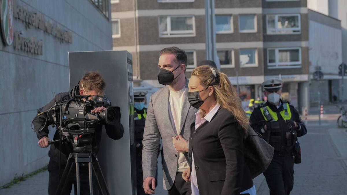 Christoph Metzelder auf dem Weg ins Düsseldorfer Amtsgericht