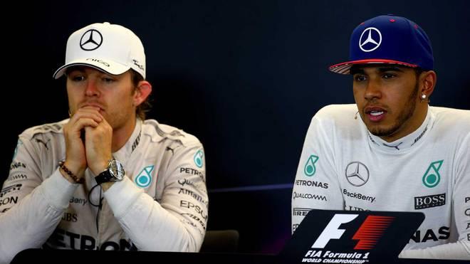 Nico Rosberg (l.) und Lewis Hamilton hatten in Austin Zoff