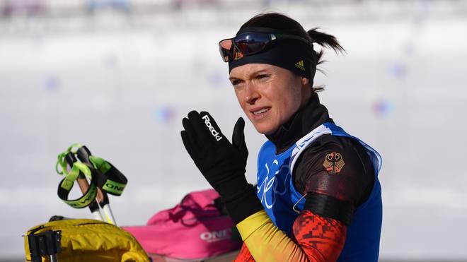 Evi Sachenbacher-Stehle wechselte zur Saison 2012/13 vom Langlauf zum Biathlon