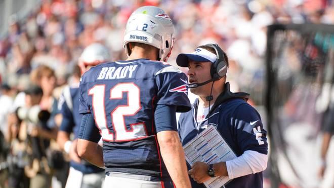 Tom Brady arbeitete bei den Patriots mehrere Jahre mit Josh McDaniels (r.) zusammen
