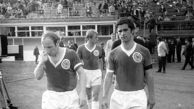 Uwe Seeler (l.) und Gerd Müller hatten im Vorfeld der WM 1970 Probleme miteinander