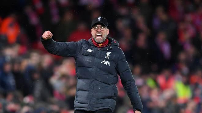Jürgen Klopp feiert mit dem FC Liverpool den Titelgewinn in der Premier League