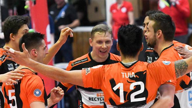 Die Berlin Recycling Volleys feierten einen klaren Sieg