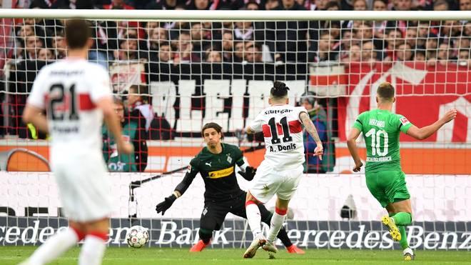 Anastasios Donis erzielte die Führung für den VfB Stuttgart gegen Borussia Mönchengladbach