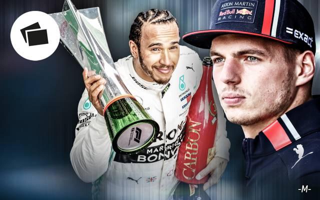 Max Verstappen (r.) wirkt aktuell in einer besseren Verfassung als Lewis Hamilton