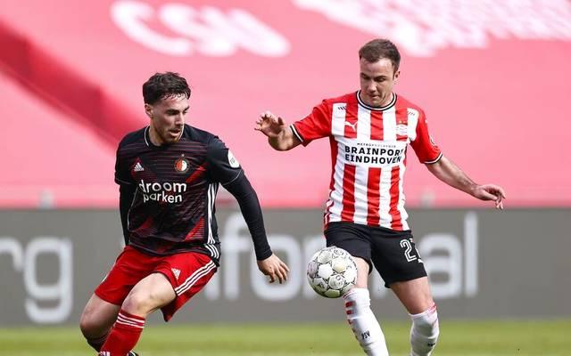 Mario Götze musste sich mit PSV Eindhoven mit einem Punkt zufrieden geben