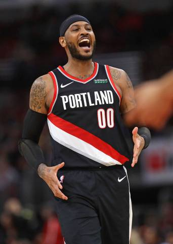 Melo ist wieder da! In seinem vierten Spiel für die Portland Trail Blazers zeigt er gegen die Chicago Bulls mit 25 Punkten, vier Dreiern und einem Dunking seine alte Klasse - inklusive eines Meilensteins...