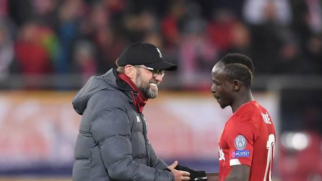 Sadio Mané (r.) traf zur Führung für Liverpool