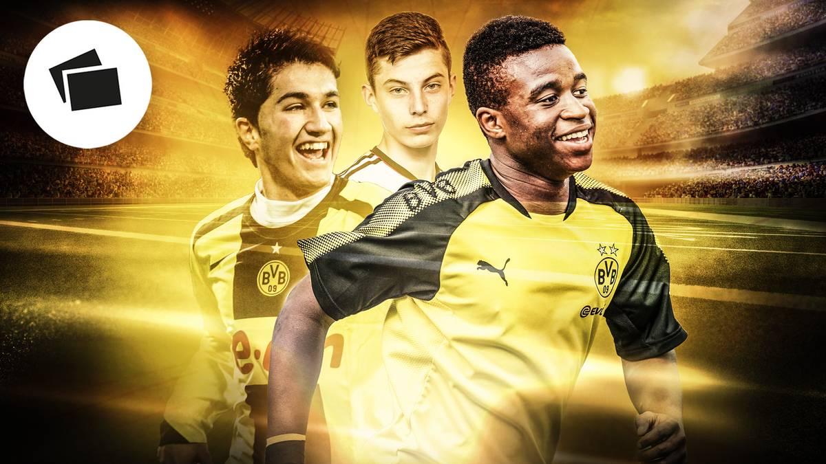 Youssoufa Moukoko (r.) könnte zum jüngsten Bundesligaspieler aller Zeiten werden