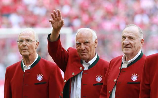 """Franz """"Bulle"""" Roth (M.) machte über 300 Spiele für den FC Bayern"""
