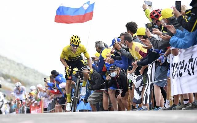 Primoz Roglic baute bei der Tour de France die Gesamtführung aus