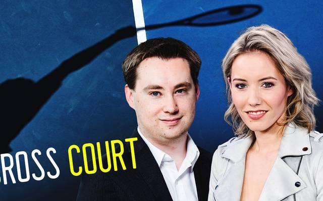 SPORT1 Tennis-Experte Stefan Schnürle und SPORT1 Moderatorin Laura Papendick sprechen mit und über die Tennis-Stars