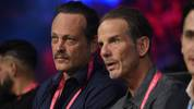LAS VEGAS, NEVADA - SEPTEMBER 14: Actor Vince Vaughn (L) and director Peter Berg attend the Tyson Fury and Otto Wallin heavyweight bout at T-Mobile Arena on September 14, 2019 in Las Vegas, Nevada. (Photo by David Becker/Getty Images)