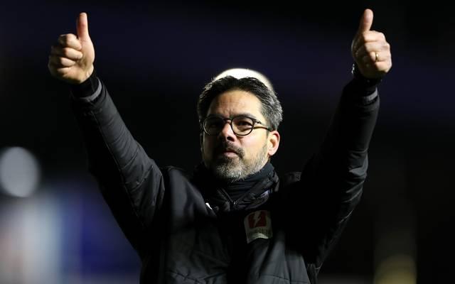David Wagner feiert den Sieg von Huddersfield Town